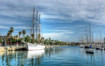 Barselona, laivai upėje.