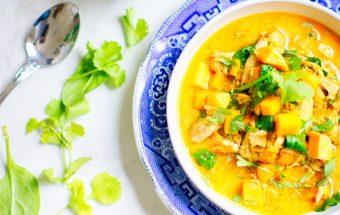 Moliūgų sriuba su vištiena ir jos produktais - Unsplash.