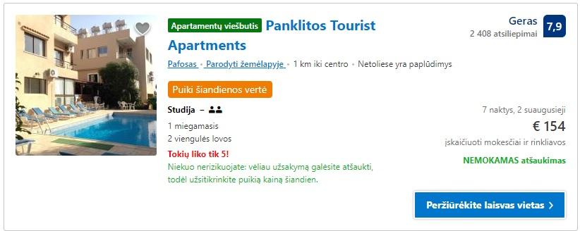 Pigūs apartamentai Kipre pagal Zmona.lt rekomendacijas.