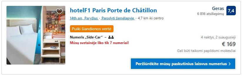 Pigi nakvynė Paryžiuje, Apartamentai Paris Porte.