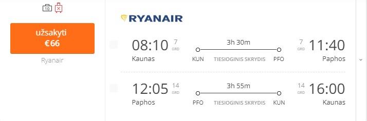 Kaunas - Kipras - Kaunas, pigus skrydis į Kiprą.
