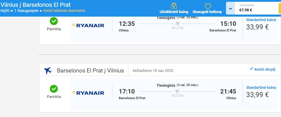 Ryanair pigūs lėktuvo bilietai rekomenduoja Zmona.lt