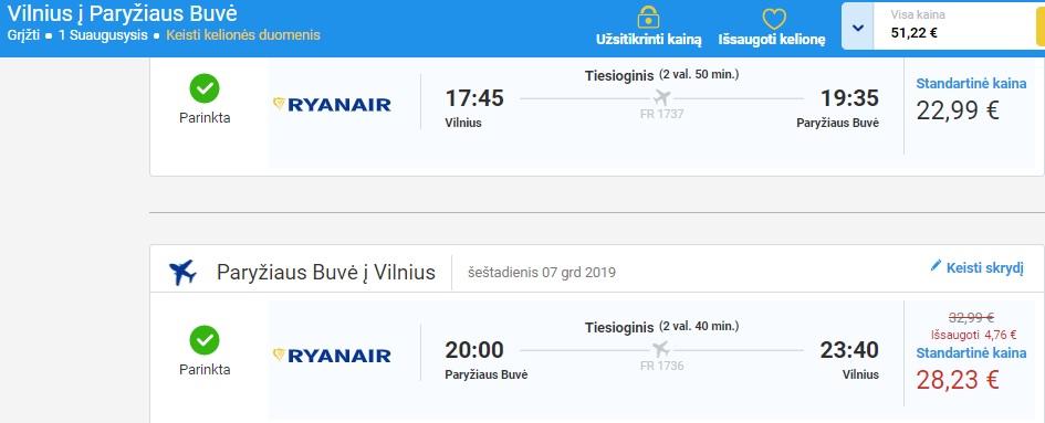 Lėktuvo bilietai į Paryžių - Zmona.lt rekomenduojamas skrydis.